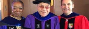 Caliper founder at NYU graduation