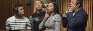 cast of empire in recording booth