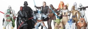 collection of star wars action figures