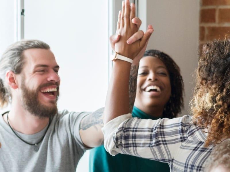 millennial high five