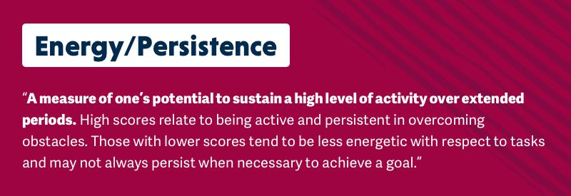 energy/persistence